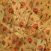 Vintage paper with flowers - background for scrapbooking — 图库照片