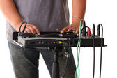 Sound mixer for audio recording — Stock Photo