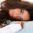 Relaxation - beautiful woman in bed — Stock Photo