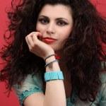 Fashion portrait of a professional model with beautiful long hai — Stock Photo