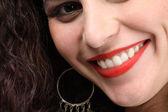 Hermosa sonrisa toothy closeup — Foto de Stock