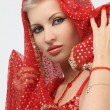 Womwith weary look in eastern arabidress — Stock Photo #4908000