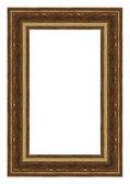 Gold frame isolated on white — Stock Photo