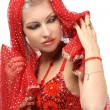 Woman in the eastern arabian dress — Stock Photo