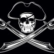 Piracy flag - Stock Vector