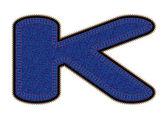 Alfabet k — Stockvector