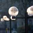 Street lanterns in a park — Stock Photo