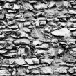 Foto de Stock  : Stone wall abstract black and white texture