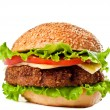 Hamburger isolated on white — 图库照片