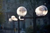 Street lanterns in a park — Stock Photo