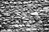 Stenen muur abstracte zwart-wit textuur — Stockfoto