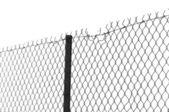 Kedja länk staket — Stockfoto