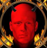 Red devil — Stock Photo