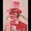 Winston Churchill stamp - Stock Photo