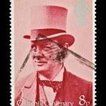 Winston Churchill stamp — Stock Photo