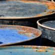 Rusty barrels macro — Stockfoto