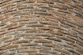 Factory brick chimney background — Stock Photo