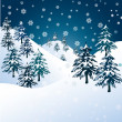 Royalty-Free Stock Vector Image: Winter landscape vector