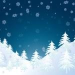 Vector winter landscape — Stock Vector #4083306