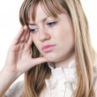 Woman under stress — Stockfoto
