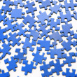 Stock Photo: Blue puzzle