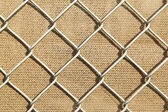 Metal fence background — Stock Photo