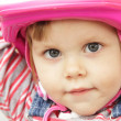 Little girl with helmet — Stock Photo