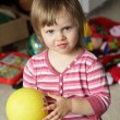 Stock Photo: Little girl with ball
