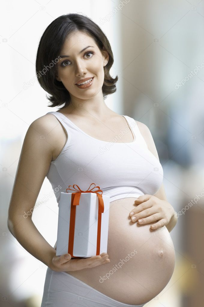 Pregnant woman waiting for a desired baby — Foto de Stock   #4276465