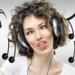 Girl with headphones - Photo