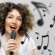 Singing girl - Stock Photo