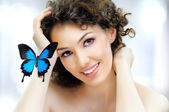 Butterfly woman — Stock Photo