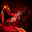 Burning ribbon — Stock Photo #5223360