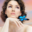 Butterfly woman — Stock Photo #5276500