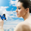 Butterfly woman — Stock Photo #5276509