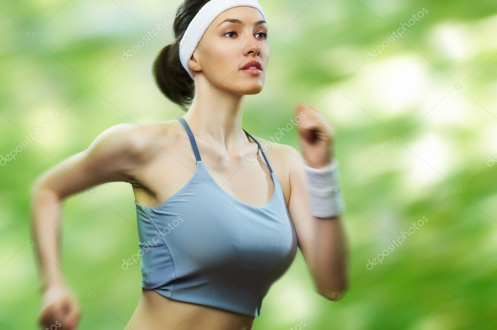 Girl in sport on the nature  Stock Photo #5363791