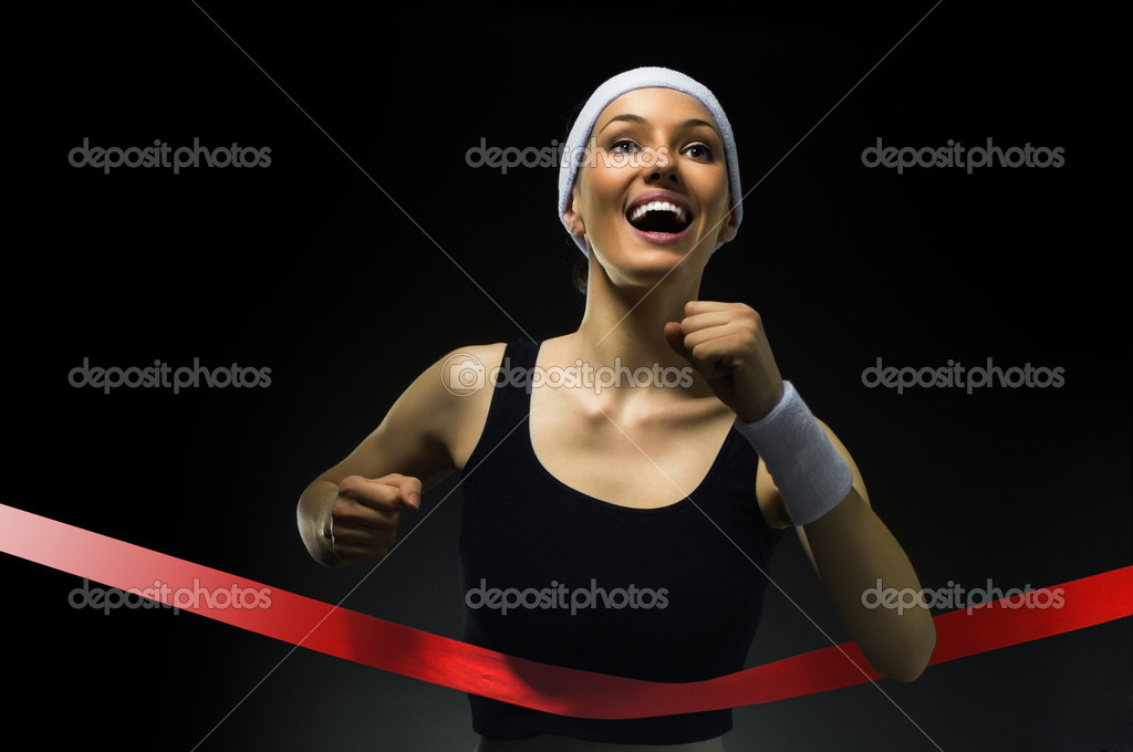 Athlete celebrates victory — Stock Photo #5363839