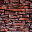 Texture of a old brick wall close up — Stock Photo