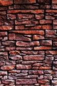 Texture of a old brick wall close up — Foto de Stock