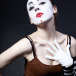 Wommime with theatrical makeup — 图库照片 #4123049
