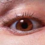 Brown man's eye closeup — Stock Photo
