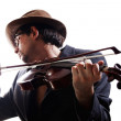 Violinist playing the violin — Stock Photo