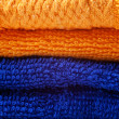 Colored cotton towels — Stock Photo
