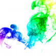 Stock Photo: Bright colorful smoke abstract shapes