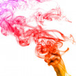 Bright colorful smoke abstract shapes — Stock Photo