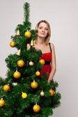Portrait of a christmas girl — Stock Photo