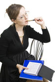 Teacher or Businesswoman a black dress. — Stock Photo