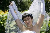 One happy bride — Stock Photo