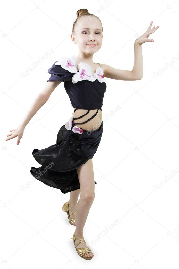 Little girl dancing. — Stock Photo © sundikova #5246905