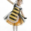 Small girl is dressed at bee costume — Stock Photo